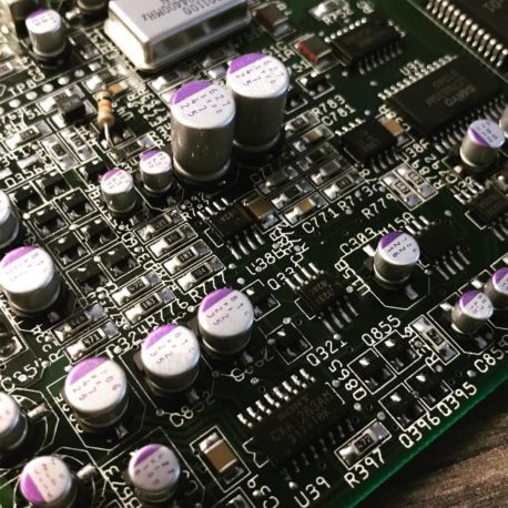 Amiga CD32 Recapped Polymer Capacitors